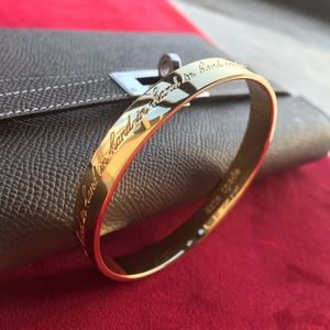 Kate Spade bridesmaid idiom bangle bracelet